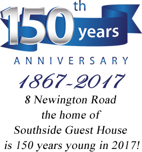 2017 150th Anniversary of 8 Newington Road, Edinburgh, Southside Guest House, Scotland